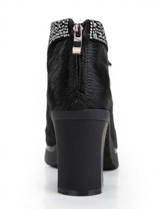 Horsehair Plateforme Cheville Bottes S5MA0355LF