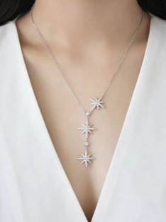 Sterling Argent avec Star Dames Colliers