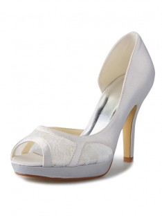 Talon Plateforme Dentelle Mariage Chaussures SW0370801I
