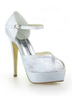 Dentelle Plateforme Talon Mariage Chaussures SW115201261I