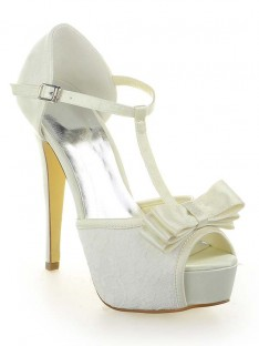 Dentelle Plateforme Talon Mariage Chaussures SW115201281I