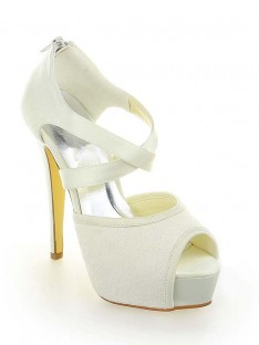 Dentelle Plateforme Talon Mariage Chaussures SW115201291I