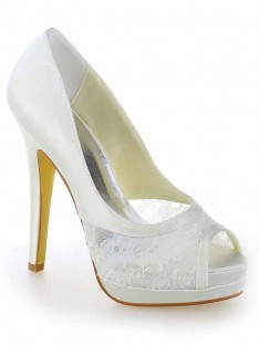 Dentelle Talon Plateforme Mariage Chaussures SW115409191I